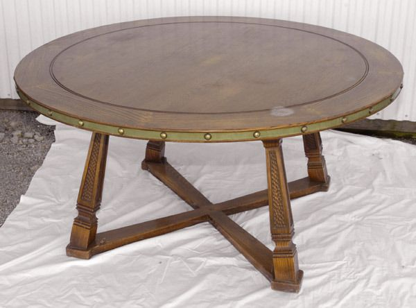 Romweber Dining Table & 6 Horse Head Chairs