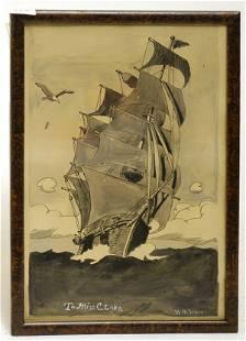 M.G. Steele Watercolor, Ca. 1925