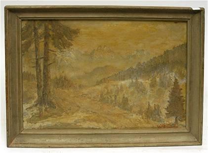 """Oil Painting """"Landscape"""", Ca. 1910"""