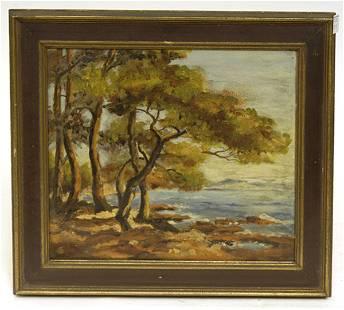 """Oil Painting, Ca. 1920, """"Landscape"""""""