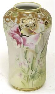 "Nippon 10"" Vase w/ Floral Designs"