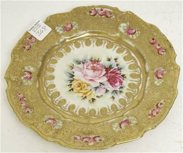 Nippon Plate w/Heavy Gold Decoration