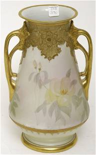 """Nippon 13"""" Heavily Gold Decorated Vase"""