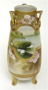 """Nippon 12"""" Scenic Vase"""