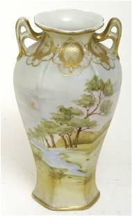 """Nippon 8"""" Scenic Vase"""