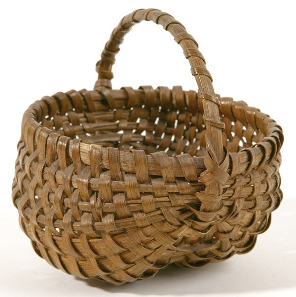 3: OLD MINIATURE EGG BASKET