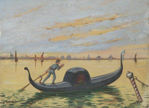 MANUEL SOLARZANO (MEXICO) OIL PAINTING