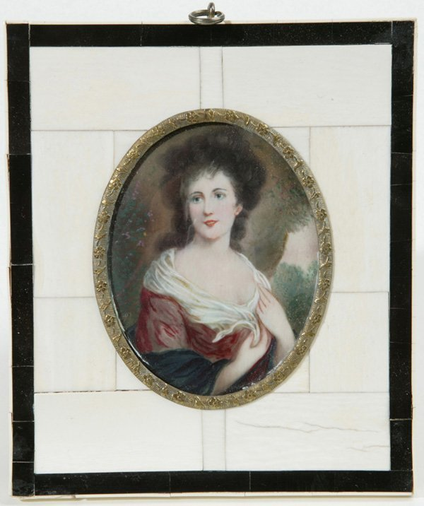 1003: SIGNED MINIATURE PAINTING ON IVORY