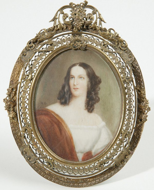 1007: SIGNED H.O. MINIATURE PAINTING ON IVORY