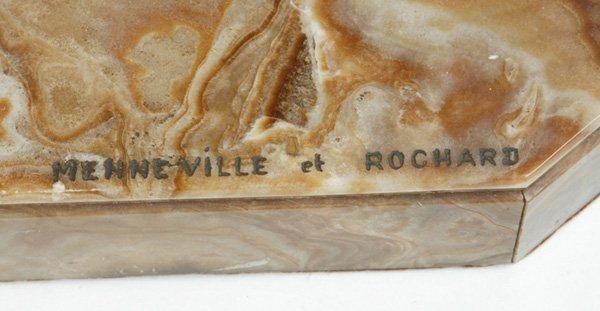 1090: ART DECO SCULPTURE SIGNED MENNEVILLE ET ROCHARD - 4