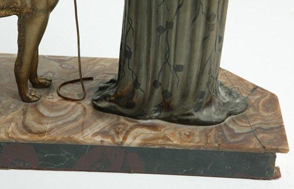 1090: ART DECO SCULPTURE SIGNED MENNEVILLE ET ROCHARD - 6