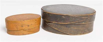 Shaker Miniature Bentwood Box Plus One W Old Paint