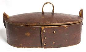 Large Early Bentwood Storage Box With Old Paint