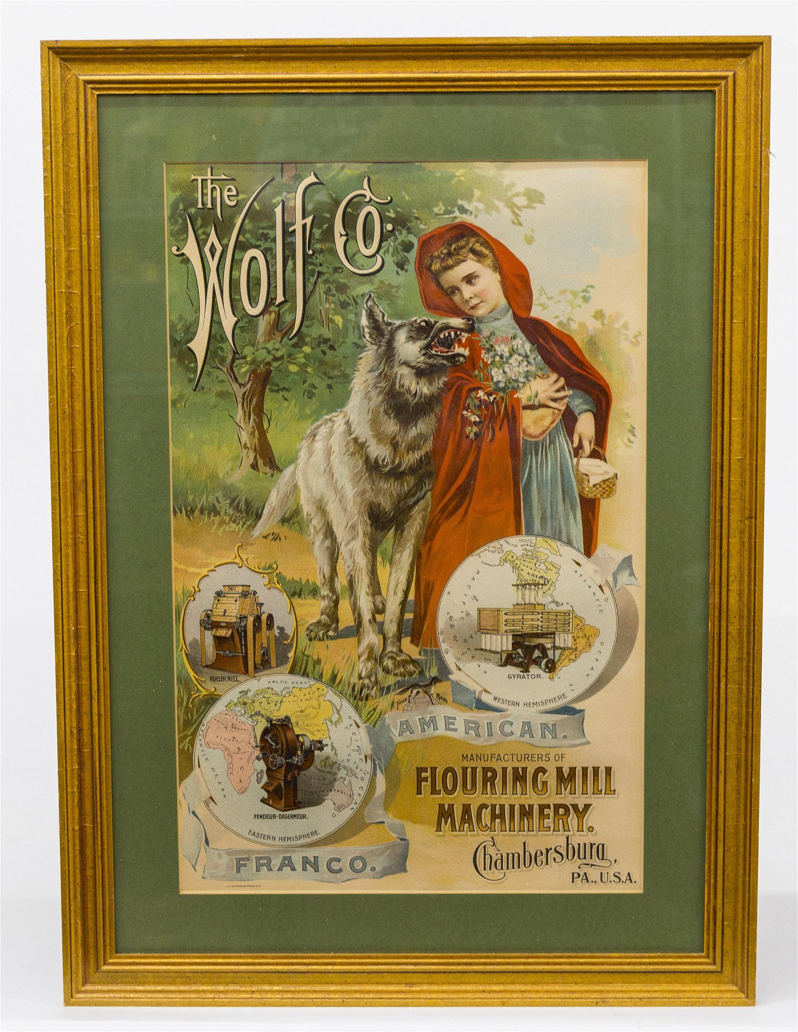 The Wolf Co. Machinery Sign
