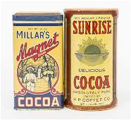 Two Cocoa Cans