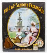 Rare J. & F. Schroth Packing Co. Cincinnati Sign