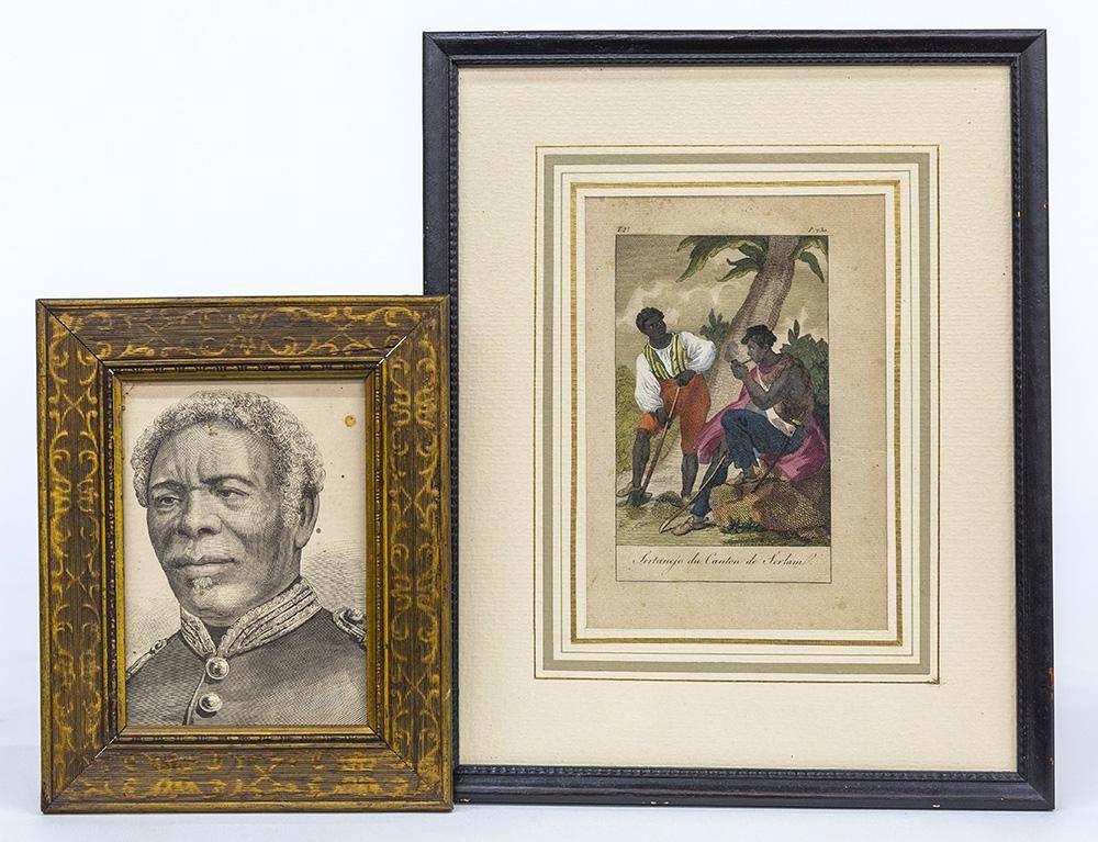 Two Engravings of African Americans
