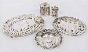 Five Pieces of Silver Plated Holloware