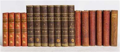 Three Sets Leather Bound Books Plus
