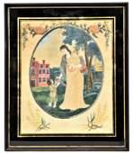 Outstanding American Folk Art Watercolor