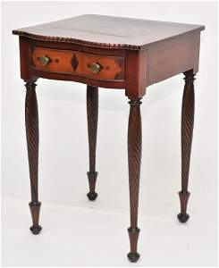 Rare Serpentine Front Inlaid Southern Stand