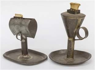 Two Early Kerosene Lamps