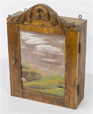 Hanging Oak Spice Cabinet