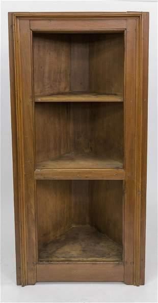 Diminutive Open Corner Cupboard