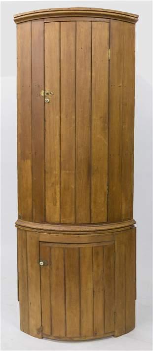 Barrel Form Corner Cupboard