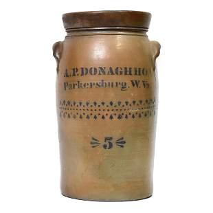 A.P. Donaghho Stoneware Jar
