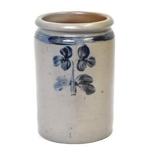 Cobalt Painted Stoneware Jar