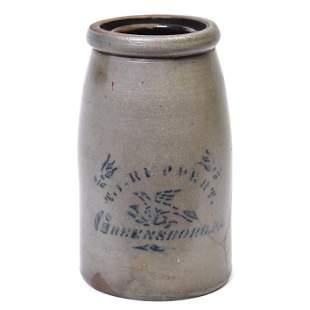 T.P. Reppert Cobalt Decorated Stoneware Jar