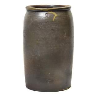 A. Melcher & Co. Stoneware Jar