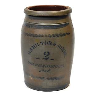 Hamilton & Jones Cobalt Decorated Jar