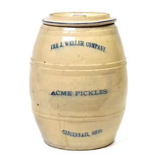 Rare Stoneware Pickle Jar