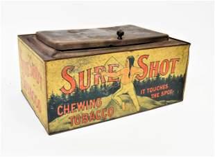 Sure Shot Tobacco Counter Top Tin