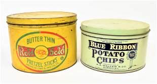 Pretzel & Chip Tins