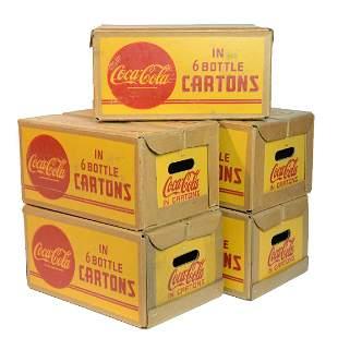 Five Coca-Cola Crates