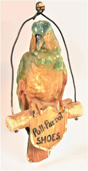 Poll-Parrot Shoes Hanging Figural Sign