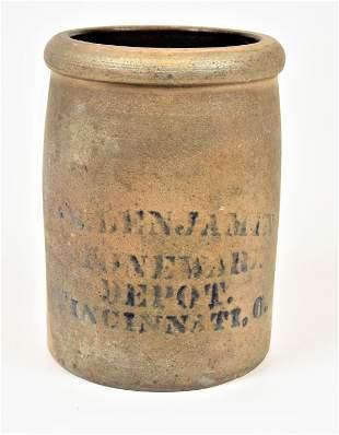 Benjamin Stoneware Depot Jar