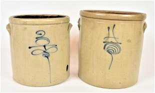 Decorated Stoneware Jars