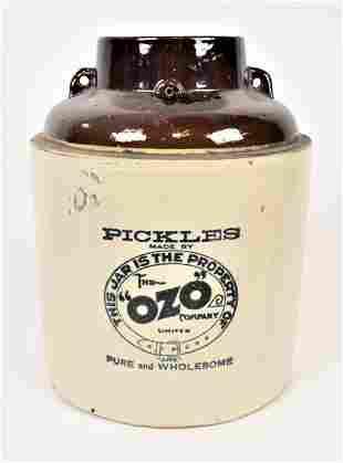 Stoneware Ozo Pickle Jar