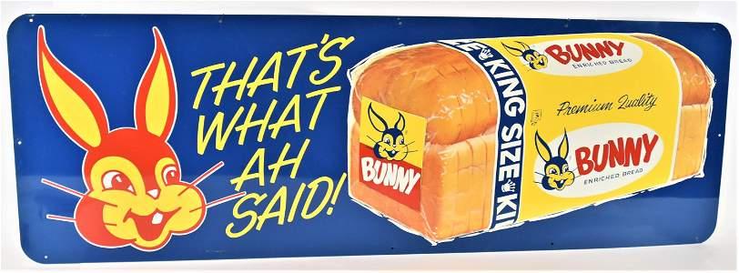 Tin Bunny Bread Sign