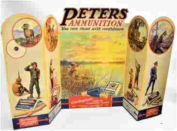 Rare 1920 Peters Cartridge Co. Store Display