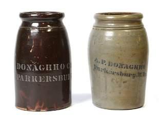 Two Donaghho  Co. Stoneware Jars