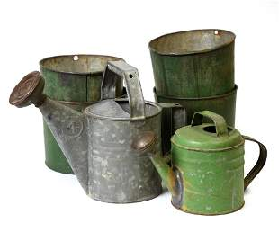 Painted Buckets & Watering Cans