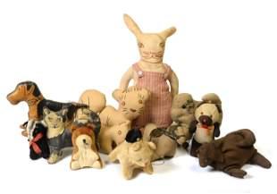 Twelve Early Stuffed Animals