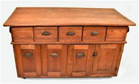 Unusual Oak Country Store Cabinet