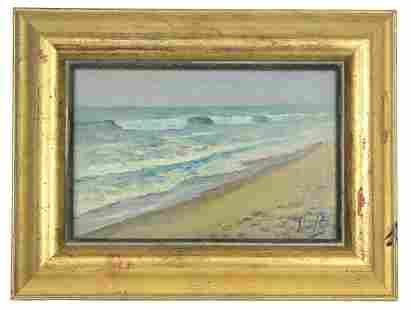 John Rettig Seascape Oil Painting