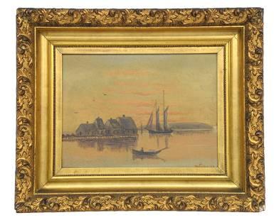 Harbor Scene Oil Painting by DuFishouse